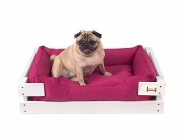 Лежанки для маленьких собак розовые с деревянным каркасом по цене 0 грн.