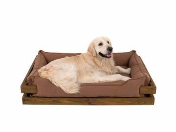 Лежак для собак из дерева фото