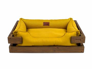 Лежак dreamer nature + mustard с деревянным каркасом по цене 0 грн.