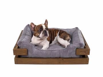 Спальное место для собак grey velvet фото