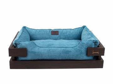 Лежак dreamer brown + blue velvet фото