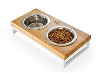 Миски на подставке lunch bar natural wood + white  по цене 0 грн.
