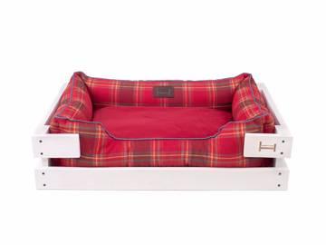 Лежак dreamer white + london red с деревянным каркасом по цене 0 грн.