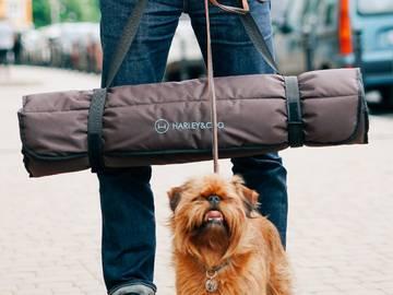 Коврик для собак travel roll up mat brown фото