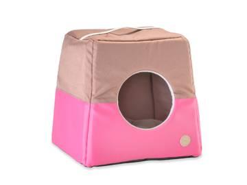 Домик-лежак два в одном для собак и кошек cabrio pink фото