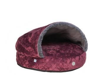 Лежак-норка cover plush cherry фото