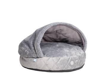 Лежак-норка cover plush gray фото