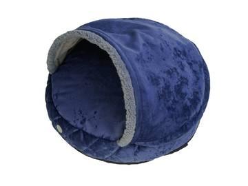 Лежак-норка cover plush royal blue фото