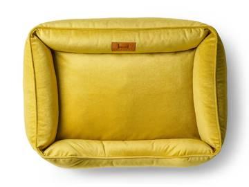 Лежак dreamer velur yellow фото