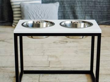 Миски на подставке lunch bar white wood + black xl size sale  по цене 0 грн.