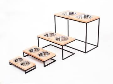 Миски на подставке lunch bar nature wood + black m size 15cm sale  по цене 0 грн.