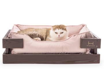 Лежак для кошек dreamer brown + pudra velur с деревянным каркасом по цене 0 грн.