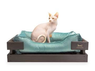 Лежак для котов dreamer brown + tiffany velur с деревянным каркасом по цене 0 грн.