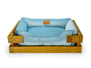 Лежак для котов dreamer nature + blue velur фото