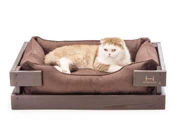 Лежак для котика dreamer brown + brown фото