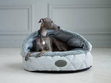 Лежак с капюшоном cover silver фото