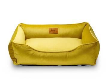 Лежак для котов dreamer velur yellow фото