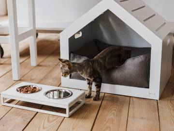 Домик для кота white shelter фото