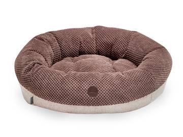 Овальный лежак для котов bagel brown фото