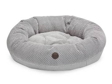 Овальный лежак bagel silver фото