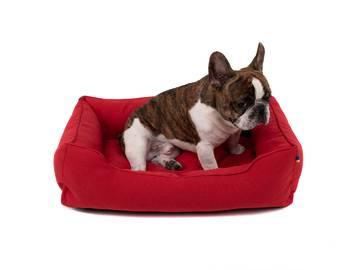 Лежанки для собак красная  фото